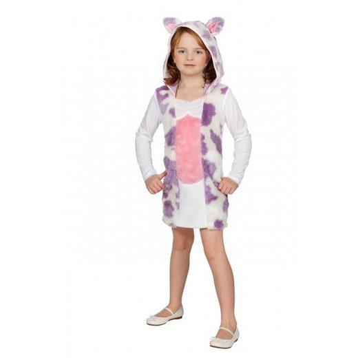 Rosa Plüschkuh Kostüm für Kinder