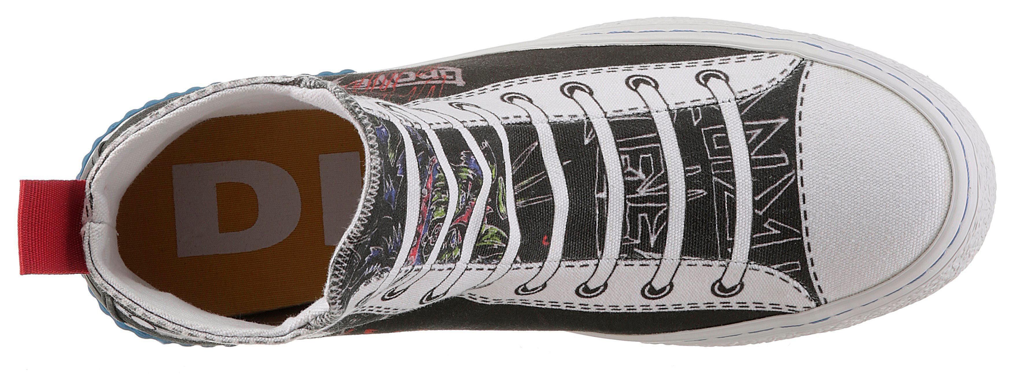 Diesel Imaginee S-Imagi Sneaker, mit aufgedruckten Schnürsenkeln online kaufen  schwarz