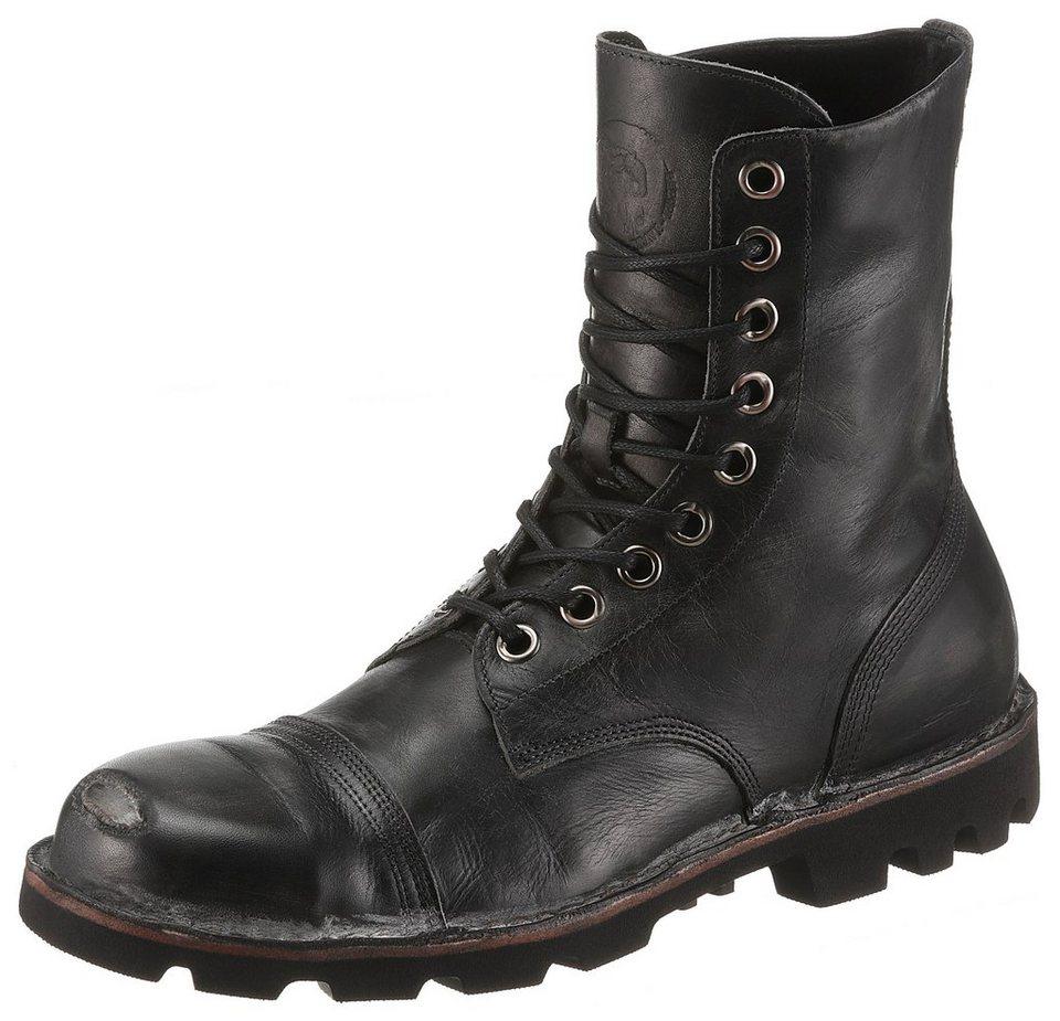 Diesel »Hardkor Steel« Schnürstiefel mit abgewätzter Schuhkappe ... c4a5600e94