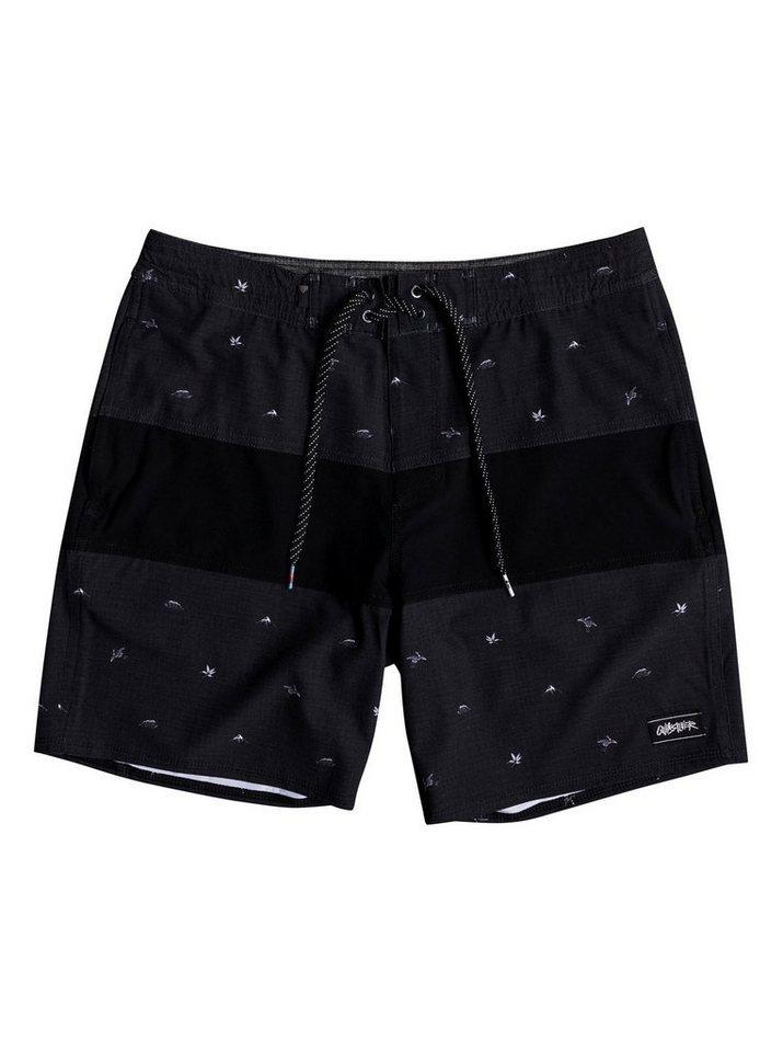 Herren Quiksilver Strand-Shorts Baja Variable 18 schwarz   03613373857231