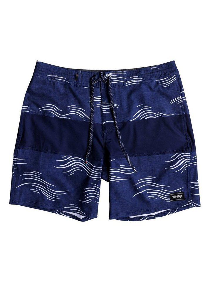 Herren Quiksilver Strand-Shorts Baja Variable 18 blau | 03613373856685