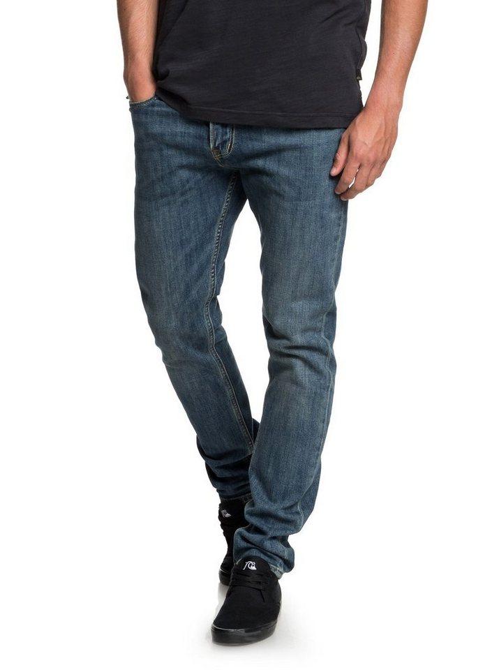 Herren Quiksilver Slim Fit Jeans Distorsion Medium Blue blau | 03613373839794