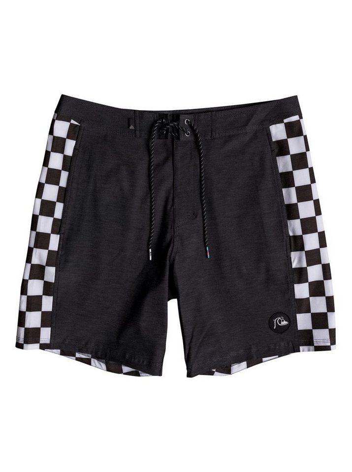 Herren Quiksilver Strand-Shorts Checker 18 schwarz   03613373857736