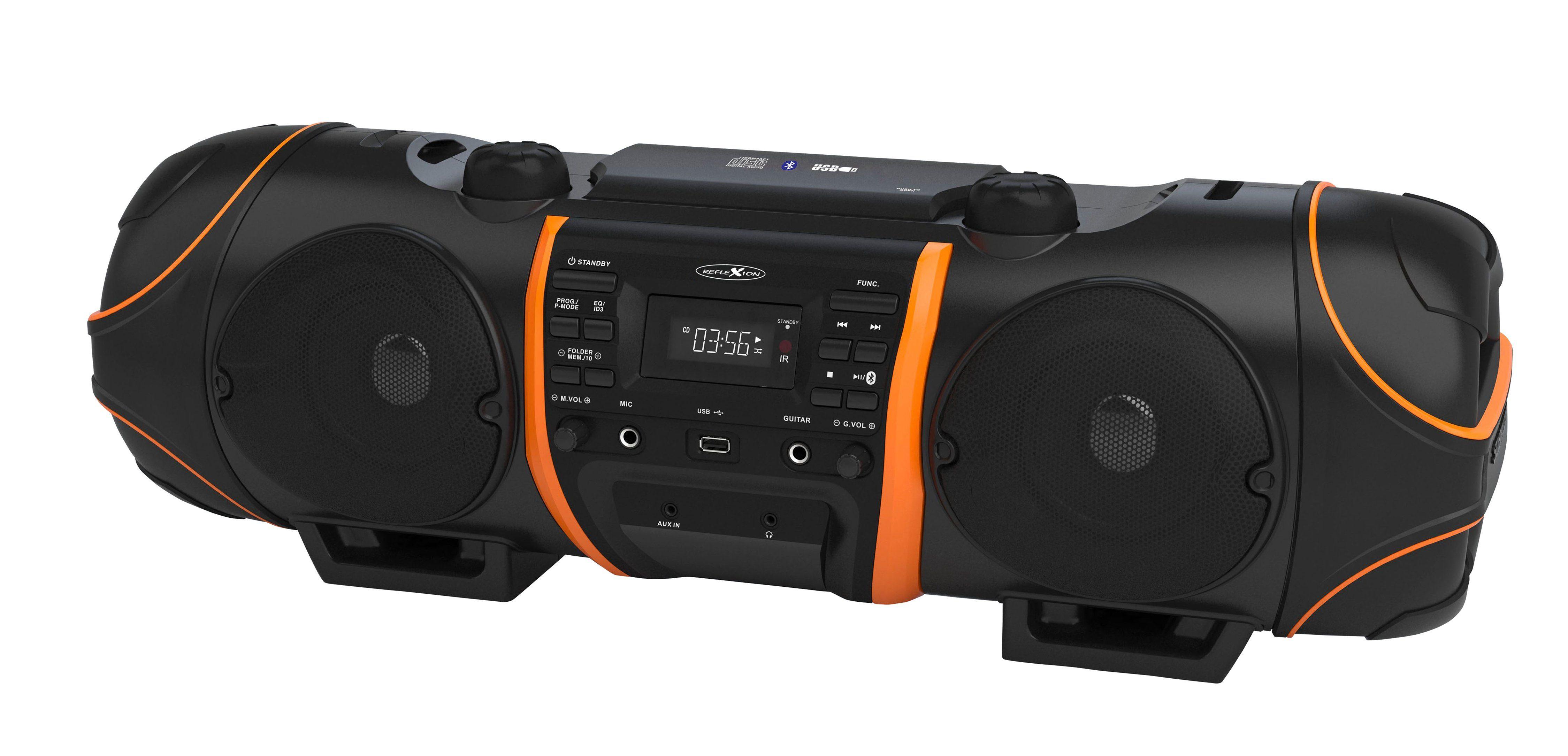 Reflexion Mobile Bluetooth Boombox / Ghettoblaster »CDR1000BT«