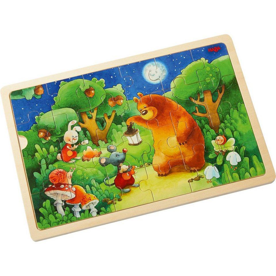 Haba Holzpuzzle 24 Teile - Nachtwächterbär kaufen