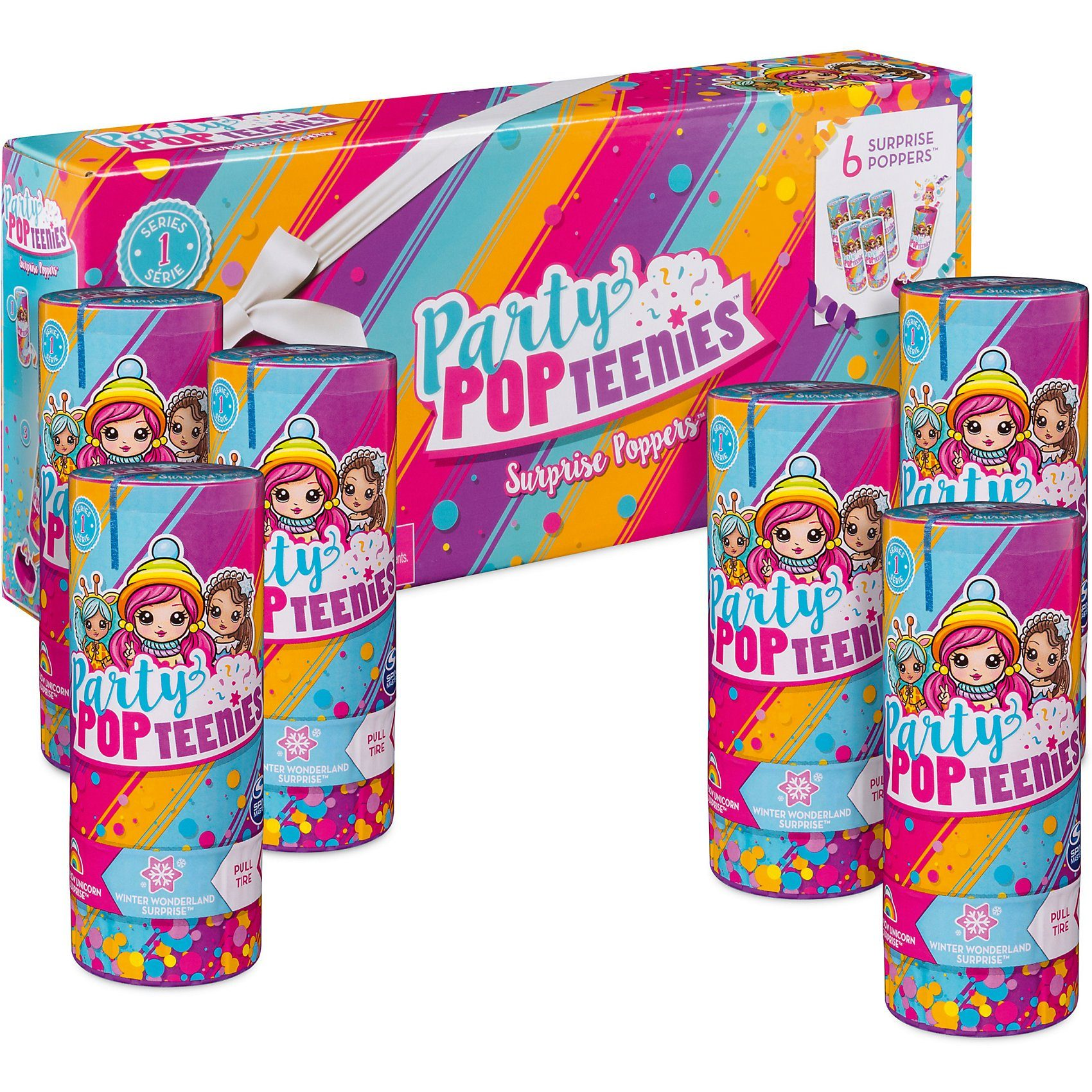 Spin Master Party PopTeenies Poppers 6 Pack