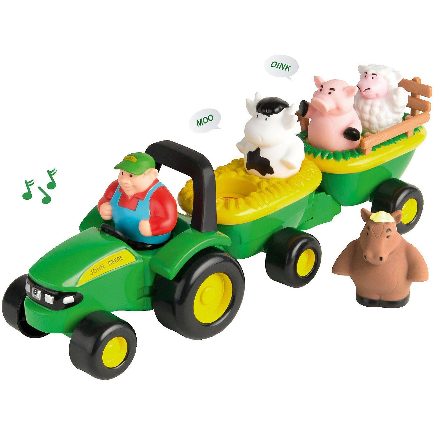 Fahrzeuge New Classic Toys 11941 Traktor mit Anhänger und Tieren