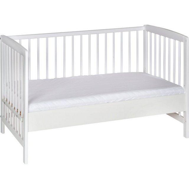 Kinderbetten - Schardt Beistell Kinderbett Micky, Massivholz weiß lackiert, 60x120 » weiß  - Onlineshop OTTO