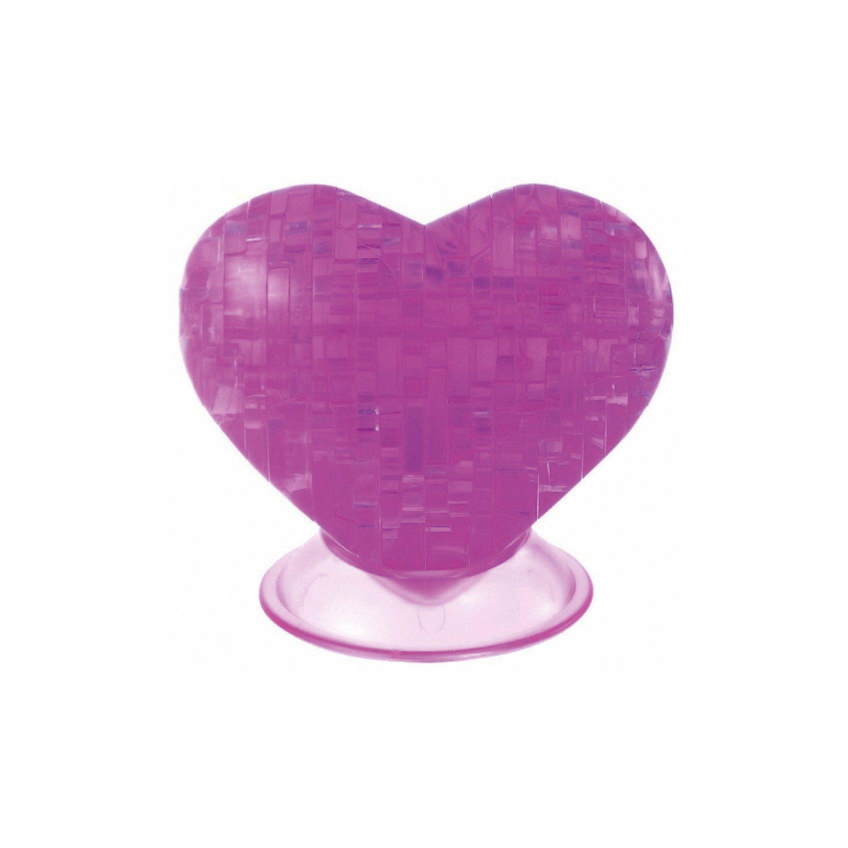Crystal Puzzle - pinkes Herz