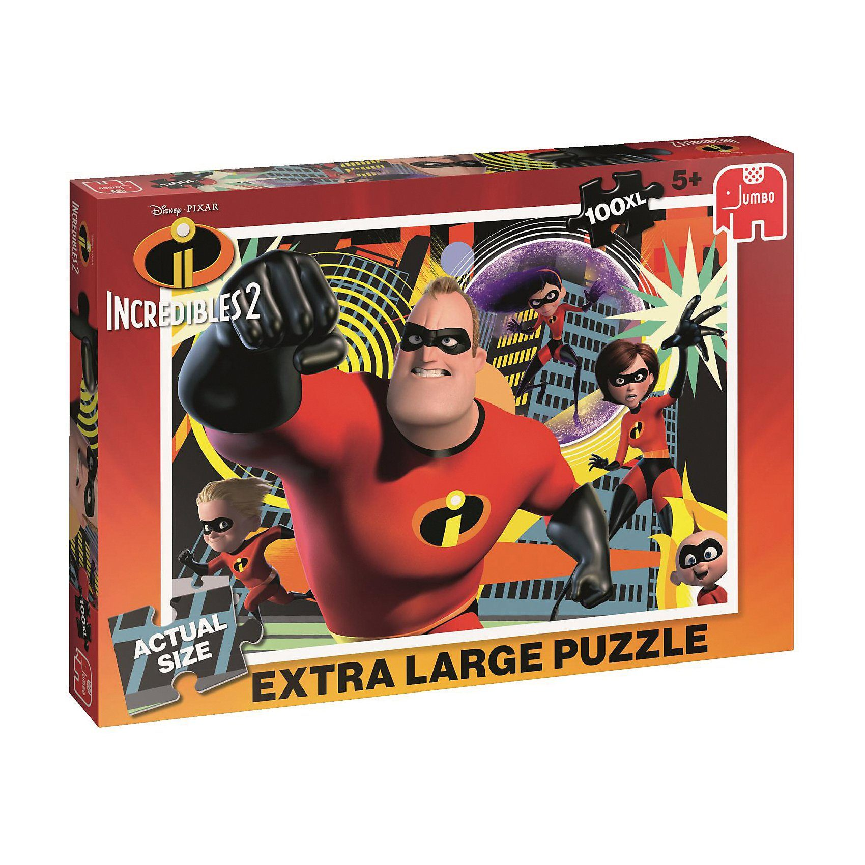 Jumbo Puzzle 100 XL-Teile - Incredibles 2