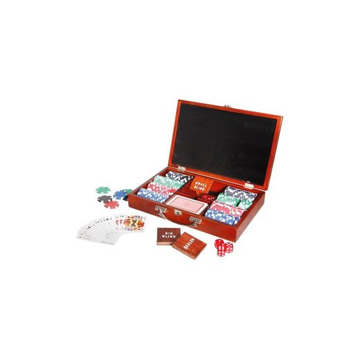 Natural Games Pokerset in Holzkoffer mit 200 Chips