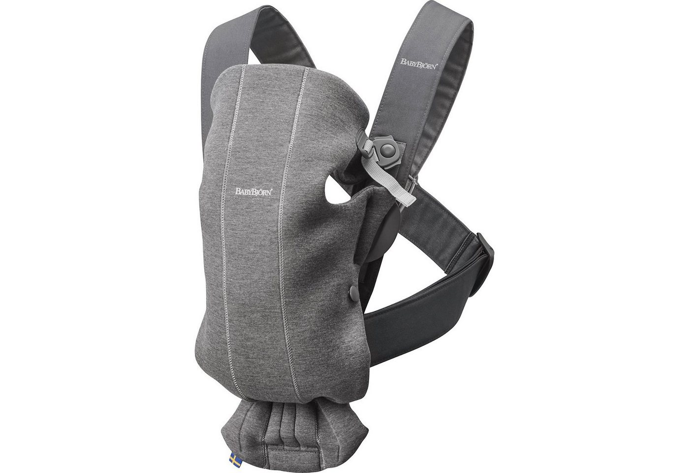 BABYBJÖRN Babytrage Mini Dunkelgrau 3D Jersey grau   07317680210845