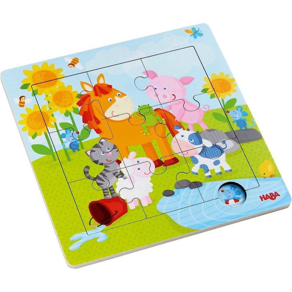 Haba Holzrahmen-Puzzle 9 Teile - Tierfreunde