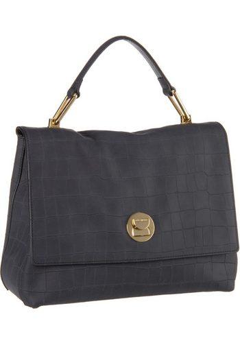 Damen COCCINELLE Handtasche Liya mat Croco 1801 schwarz | 08059978083661