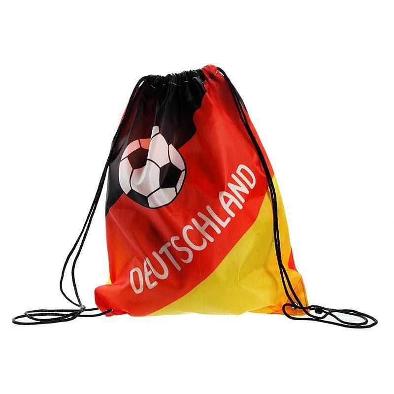 Kasper-Wohndesign Sportbeutel schwarz rot gold »Deutschland«