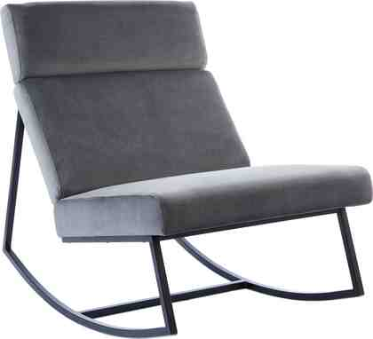 GMK Home & Living Schaukelstuhl »Soel« mit modernen Metallgestell und weichem Samtvelours Bezug