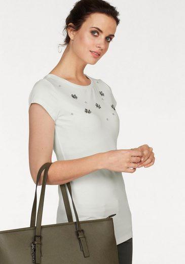 Laura Scott T-Shirt mit Ziersteinen