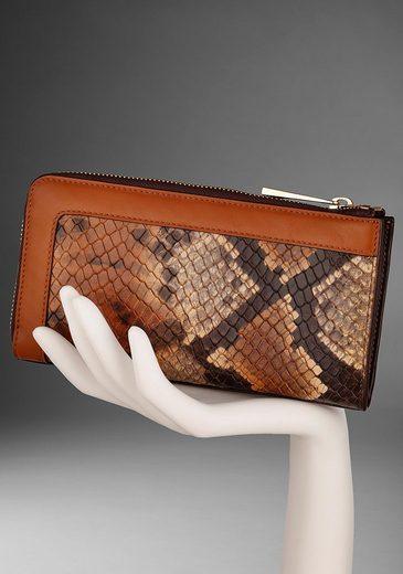 GUIDO MARIA KRETSCHMER Geldbörse, aus Leder mit wilder Snake Prägung