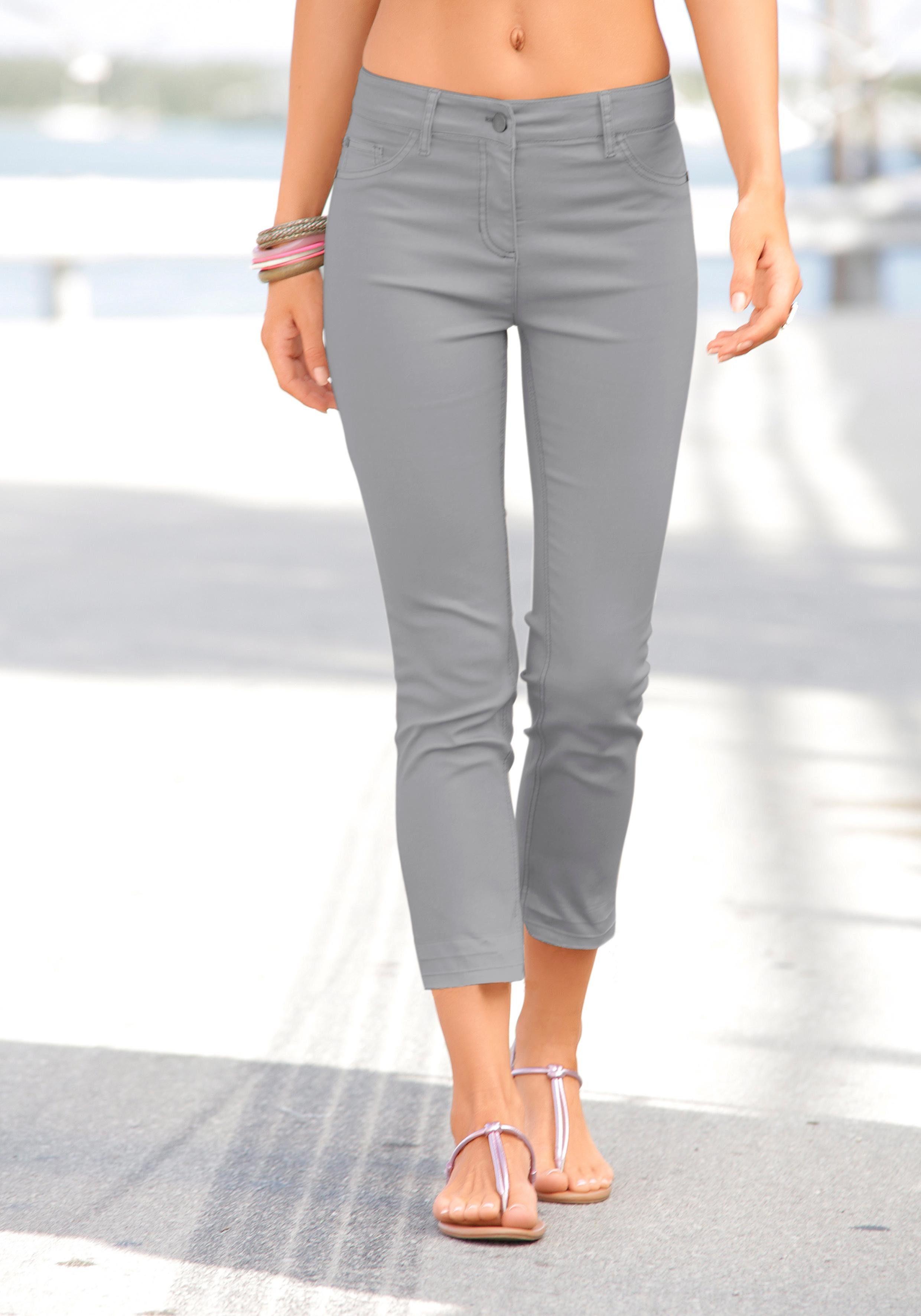 Zero Jeans Stretch Gr 34-38 in Weiß 7//8 Länge NEU