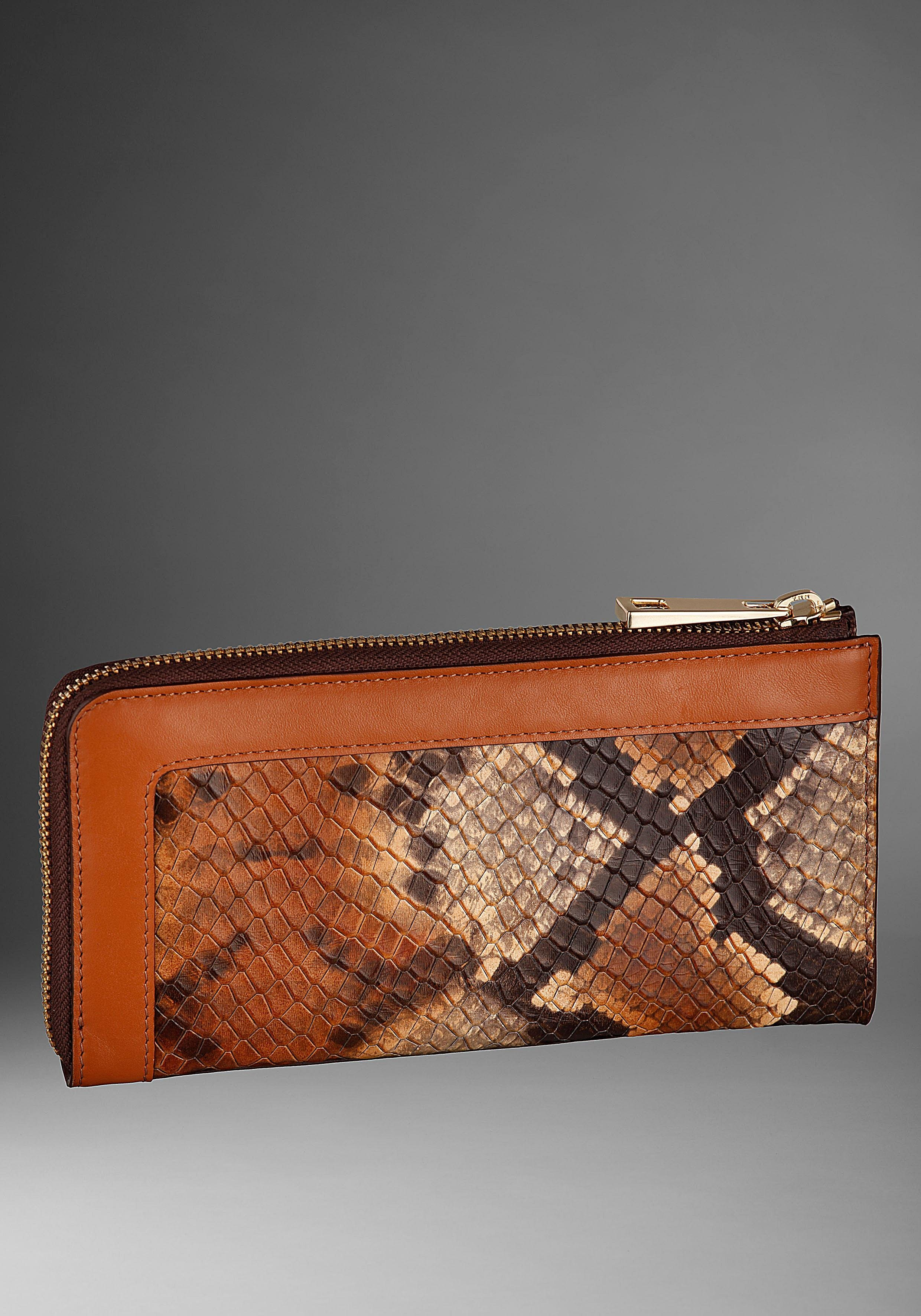 guido maria kretschmer -  Geldbörse, aus Leder mit wilder Snake Prägung