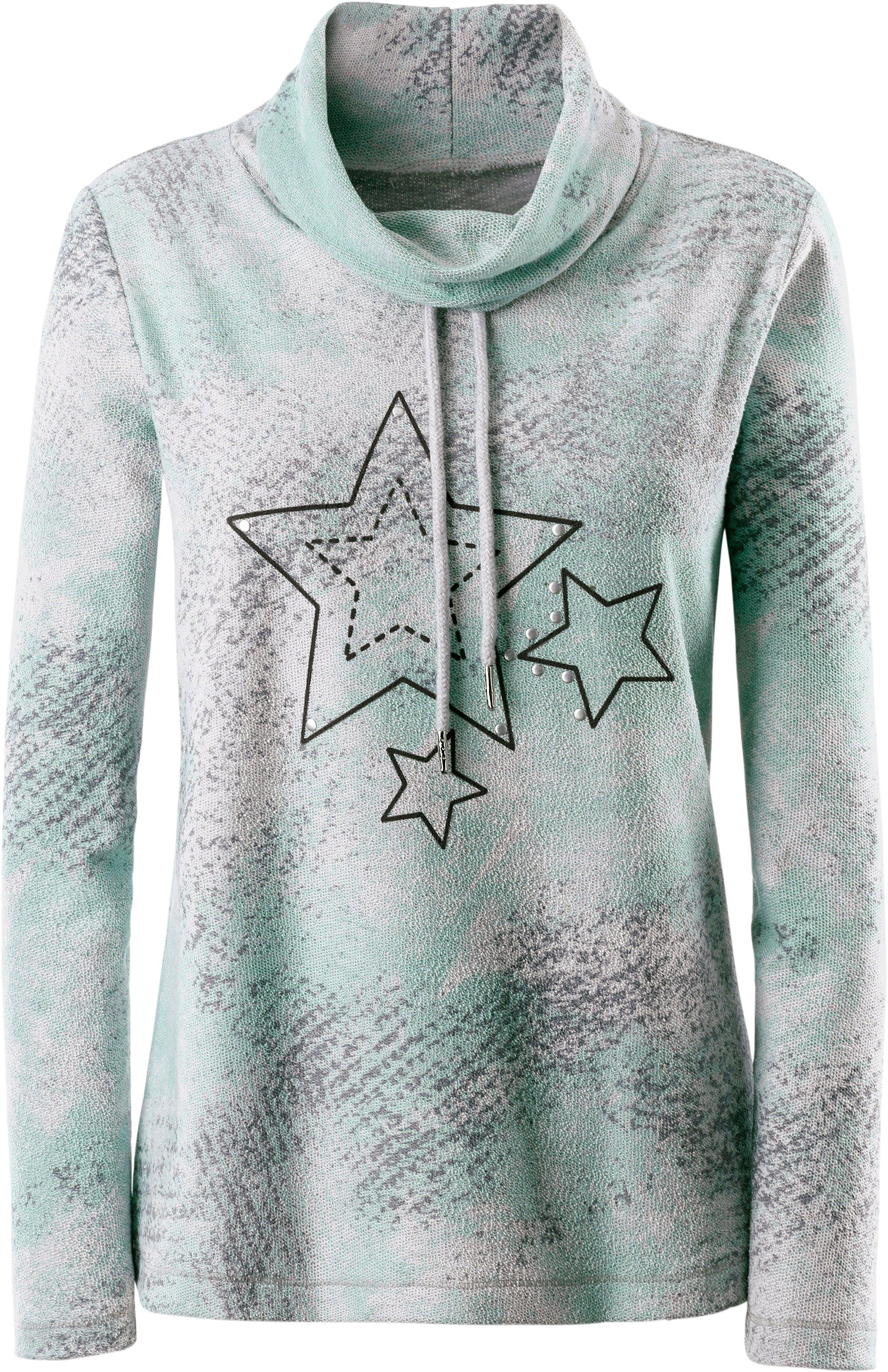 Classic Inspirationen Rollkragen-Shirt mit Sternendruck