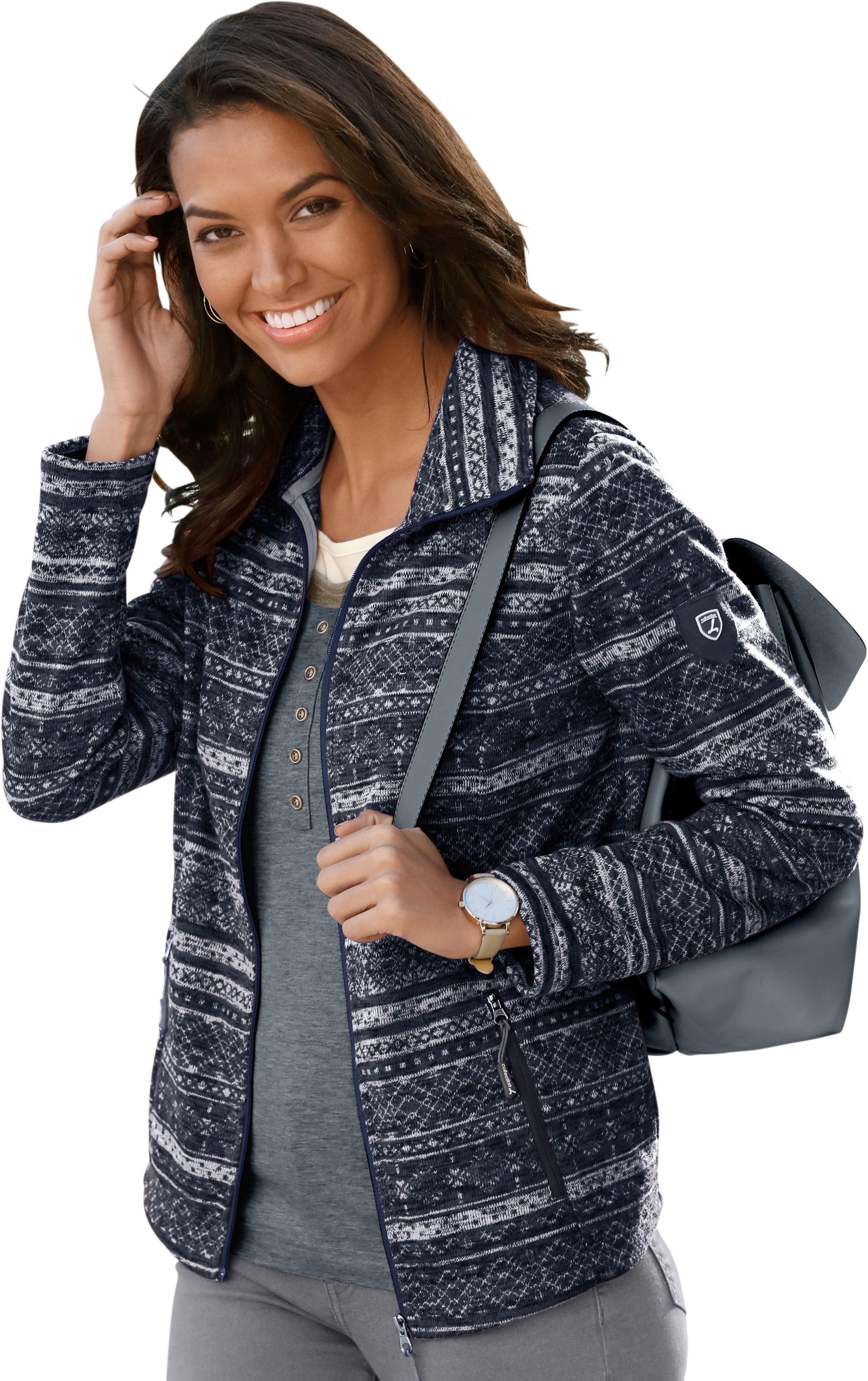 Casual Looks Fleece Jacke mit durchgehendem Reißverschluss online kaufen | OTTO