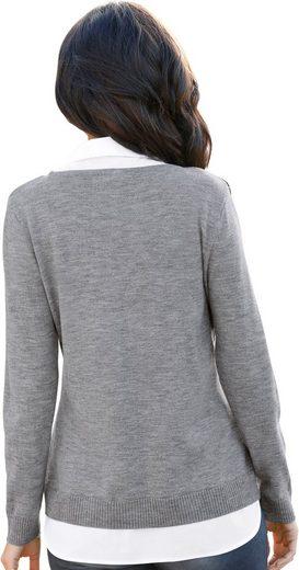 Zipper Pullover Silberfarbenem Casual Mit Looks nOYqIvU5