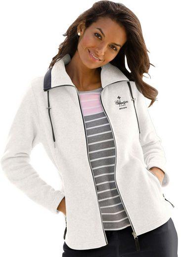 Casual Looks Fleece-Jacke mit durchgehendem Reißverschluss