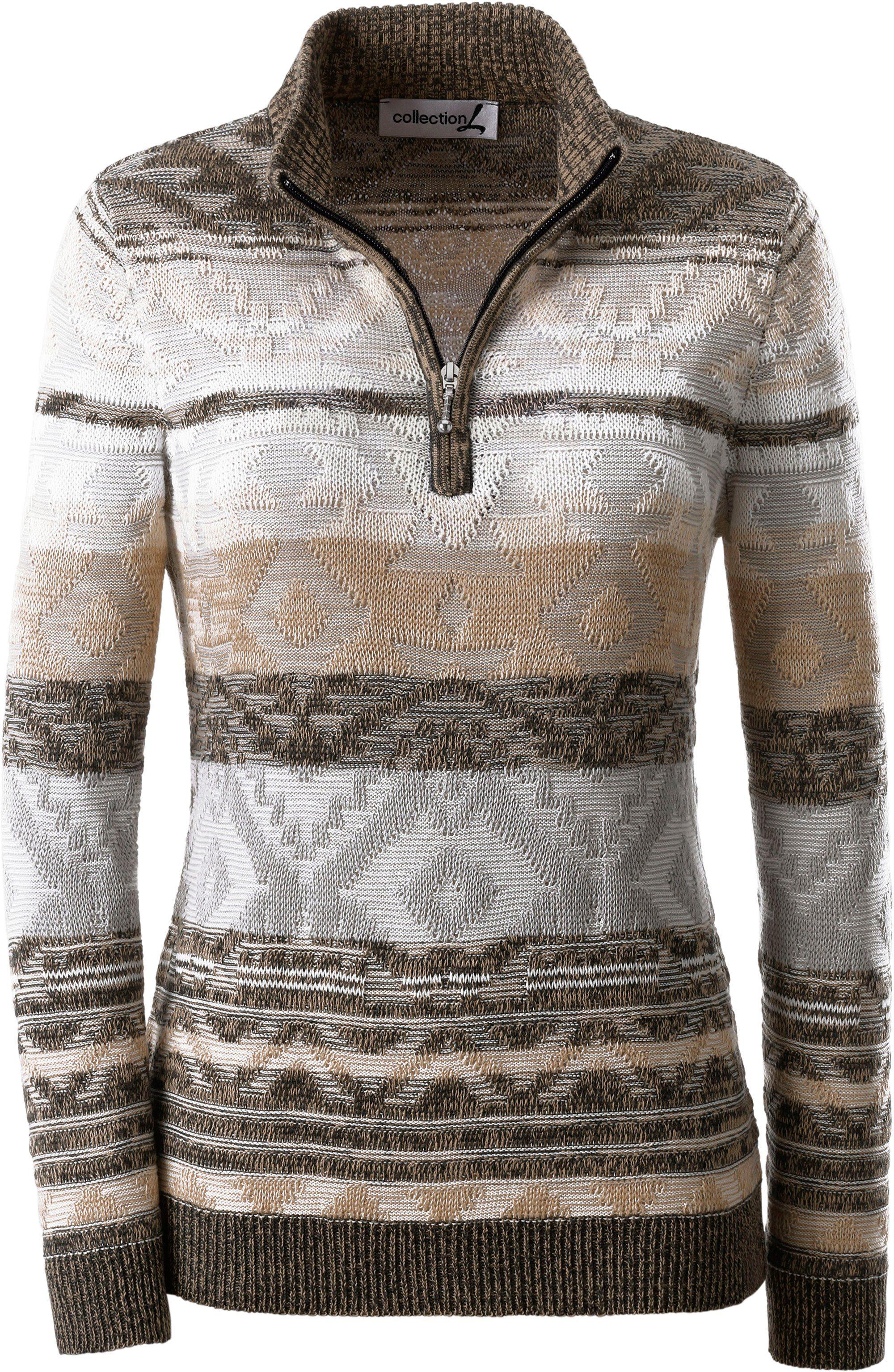 Casual Looks Pullover mit attraktivem Zopfmuster
