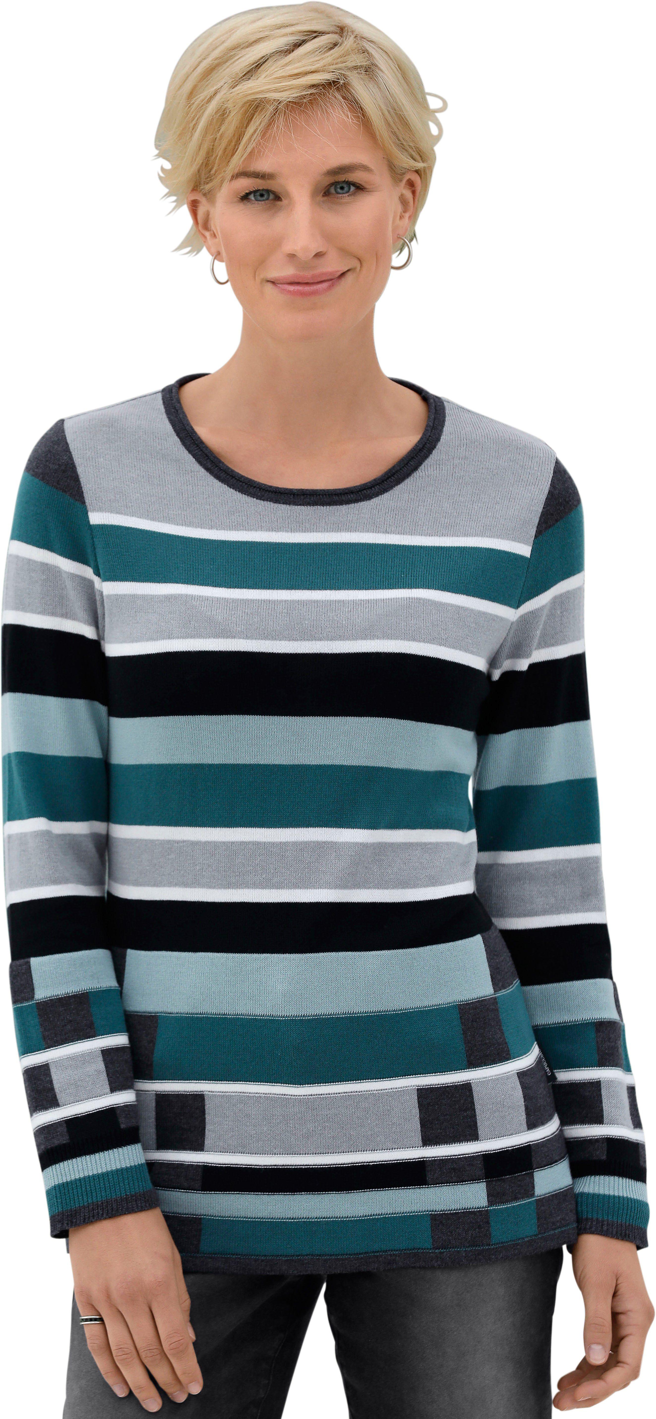 Casual Looks Pullover mit flott gestreiftem Muster