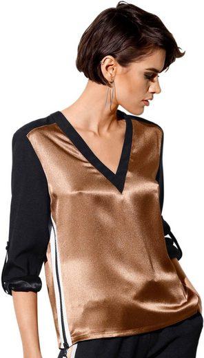 création L Bluse mit seitlichen Reißverschlüssen