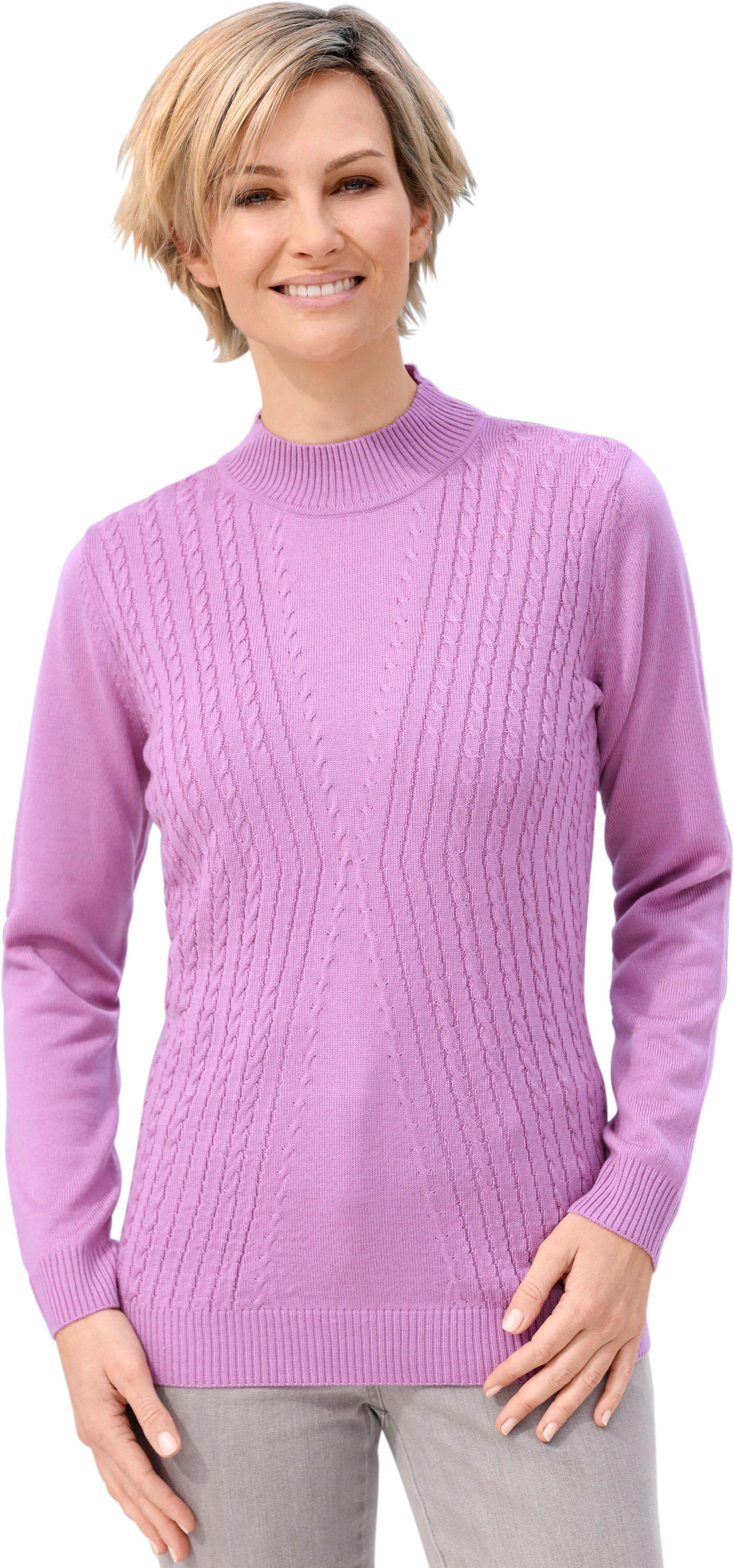 Casual Looks Pullover mit figurfreundlichem Strickmuster im Vorderteil