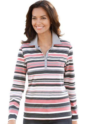 Damen Collection L. Poloshirt mit gewebter Knopfleiste rot | 05205012305395