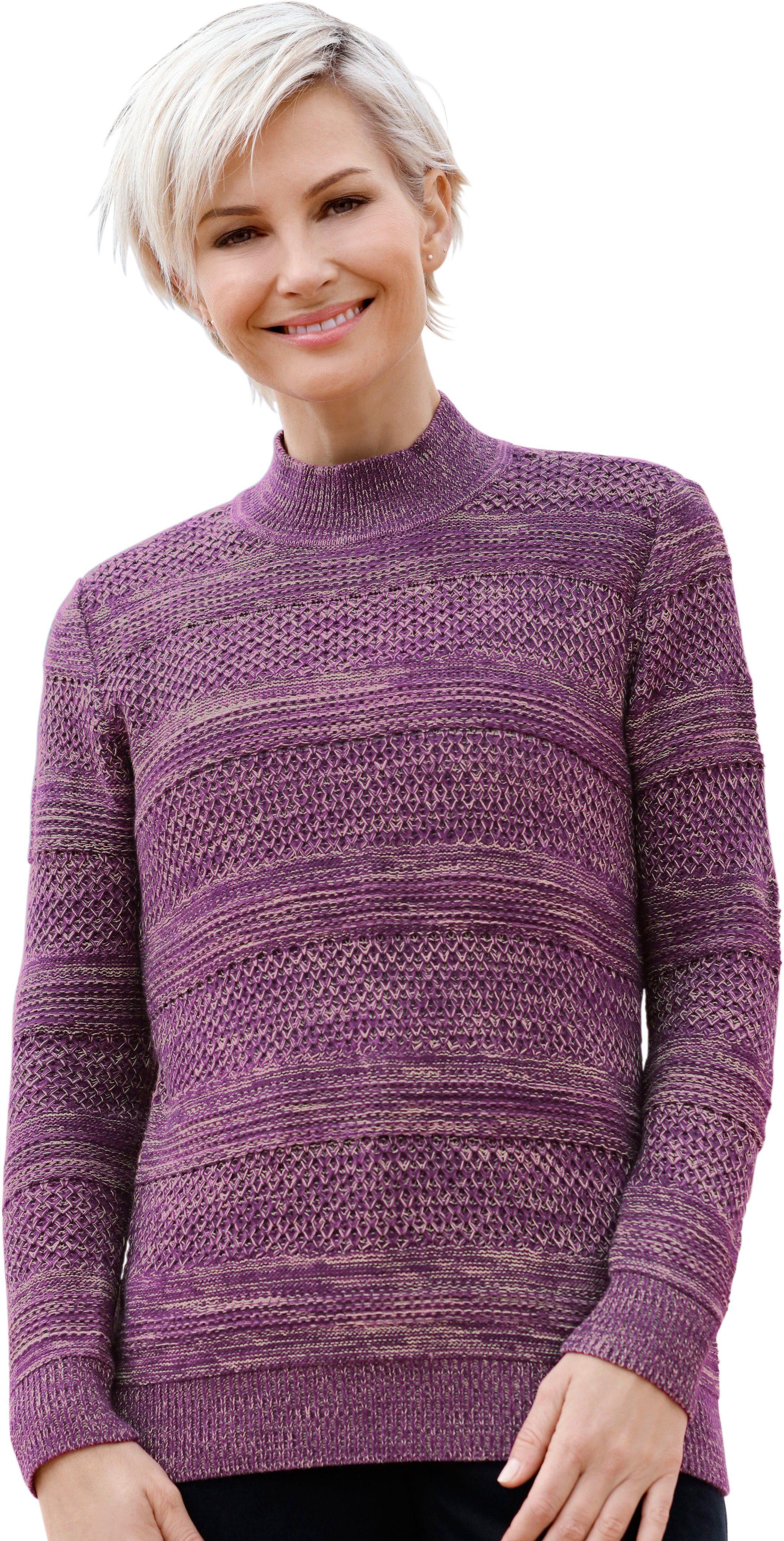 Casual Looks Pullover aus weichem Melangegarn