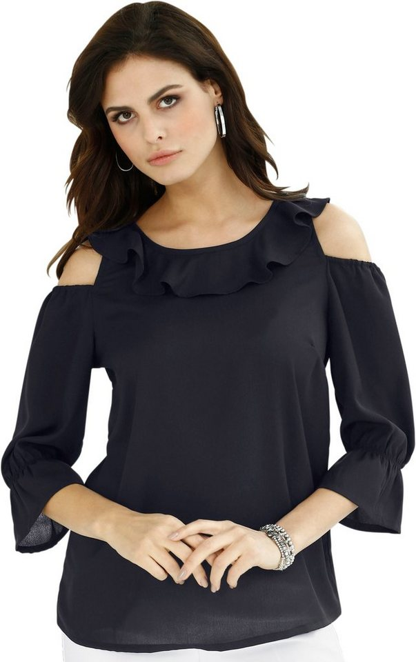 lady bluse mit weiten rundhals ausschnitt kaufen otto. Black Bedroom Furniture Sets. Home Design Ideas