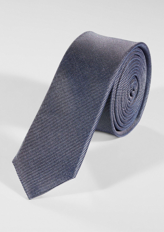 s.Oliver BLACK LABEL Krawatte mit Streifenstruktur