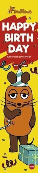 Kalender »Die Maus Geburtstagskalender long«