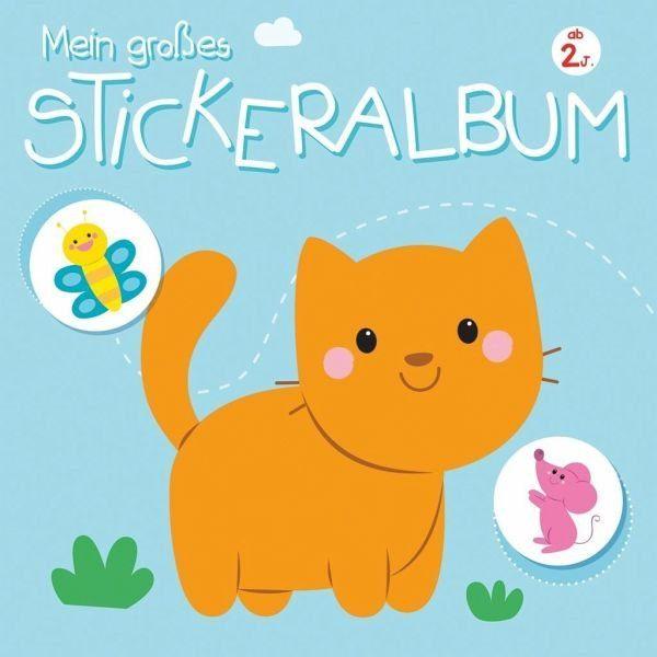 Broschiertes Buch »Mein großes Stickeralbum 2+«