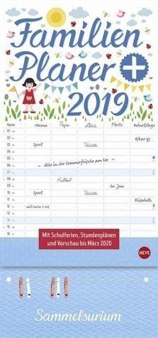 Kalender »Familienplaner plus Clips 2019«