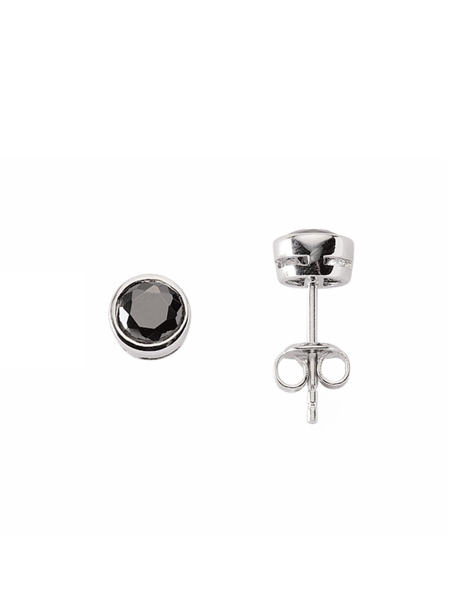 Adelia´s Paar Ohrstecker »Silber Ohrringe« 925 Sterling Silber mit Zirkonia Ø 7.5 mm
