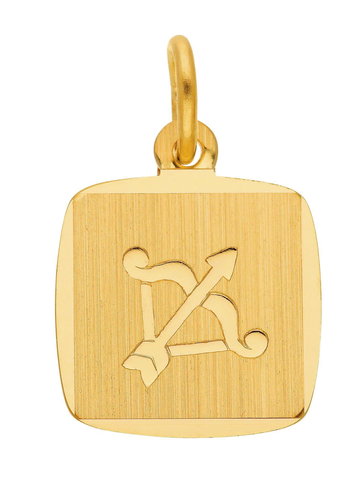 Adelia´s Kettenanhänger »Sternzeichen Gold Anhänger« Schütze 8 k 333 Gelbgold