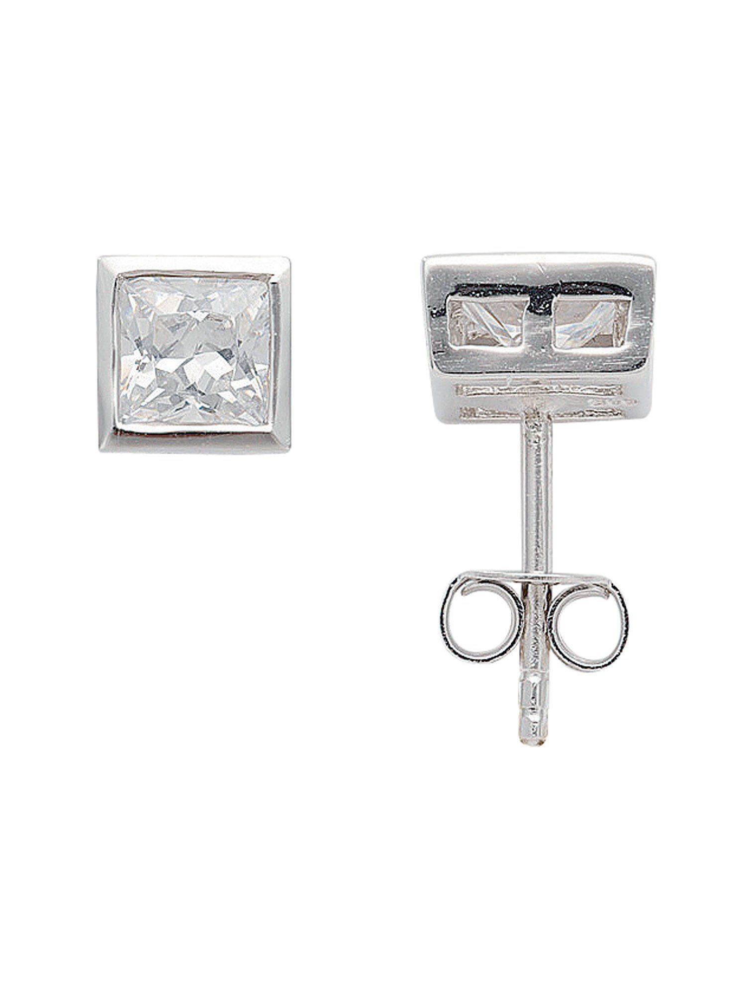 Adelia´s Paar Ohrstecker »Silber Ohrringe« 925 Sterling Silber mit Zirkonia