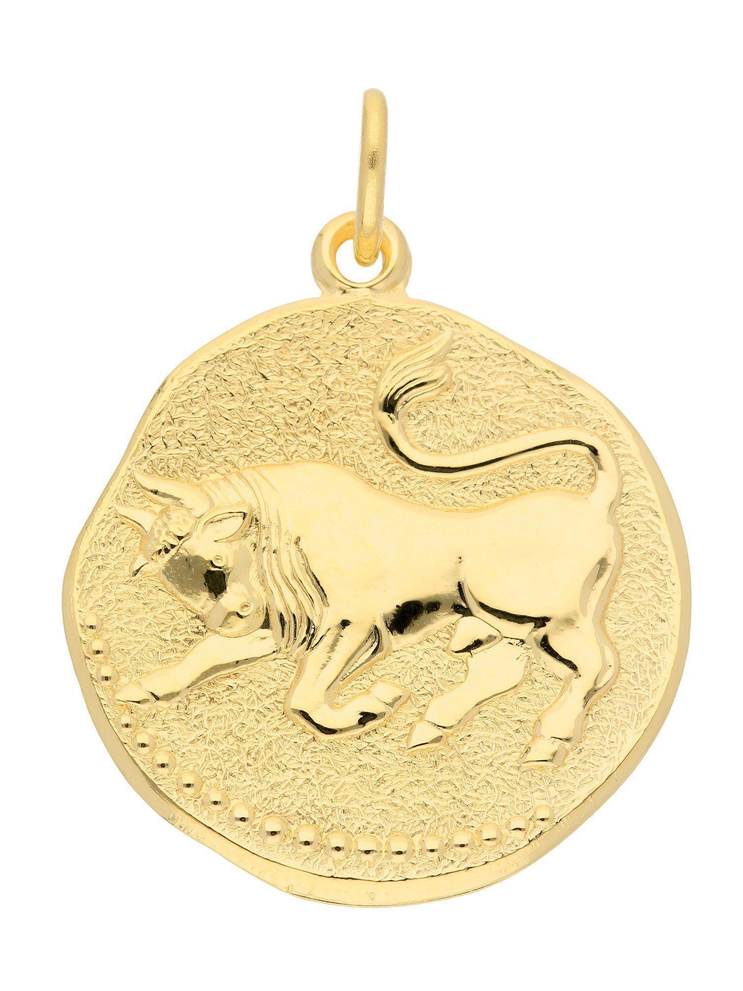 Adelia´s Kettenanhänger »Gold 8 k (333) Sternzeichen Anhänger« Stier 8 k 333 Gelbgold Ø 1.82 cm