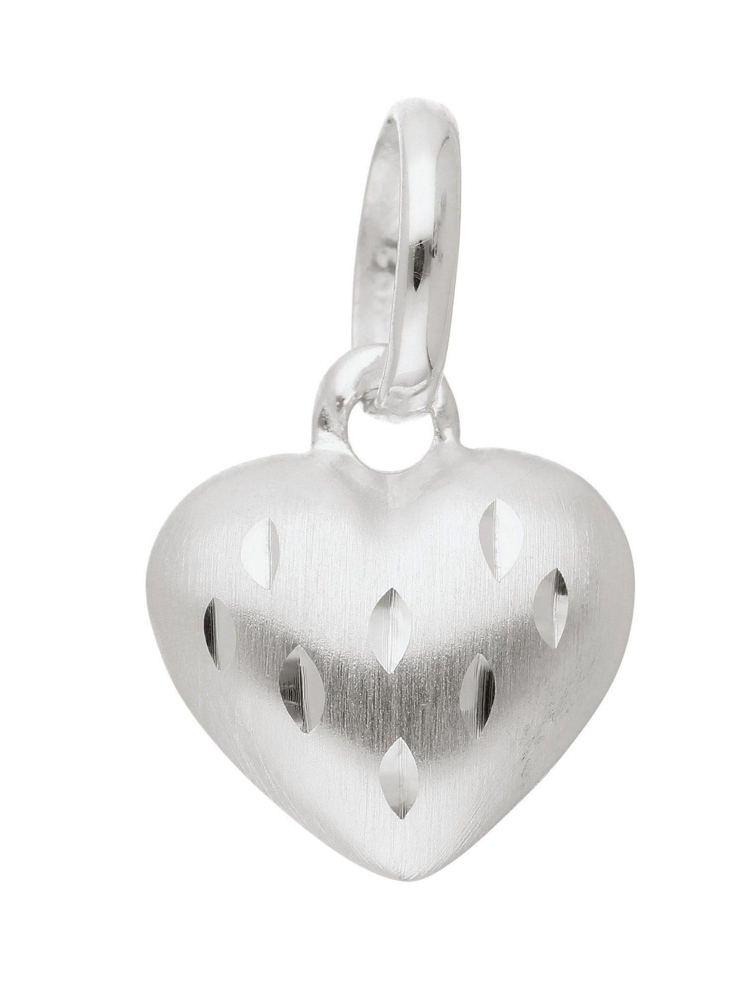 Adelia´s Kettenanhänger »Silber Anhänger« Herz 925 Sterling Silber