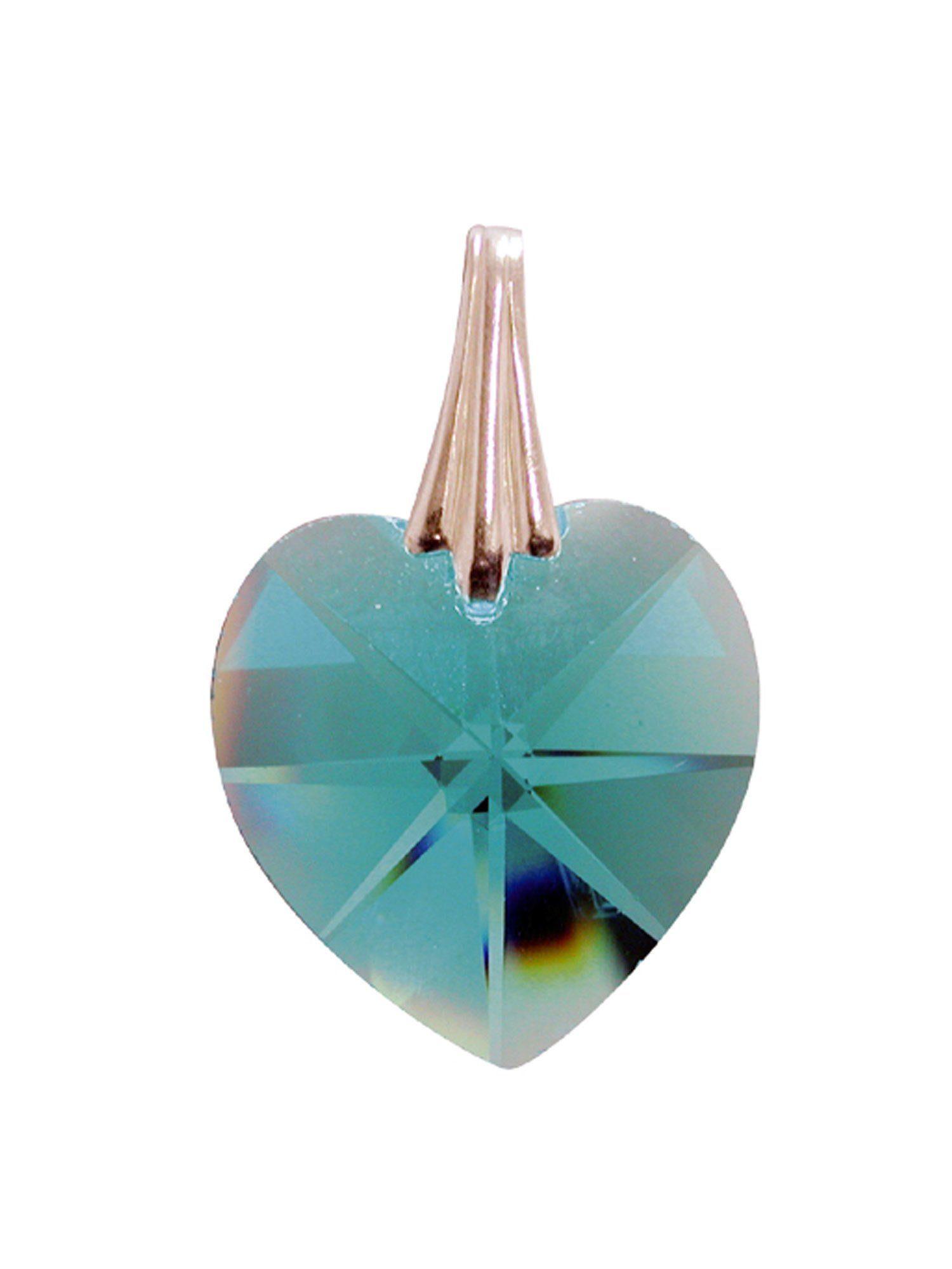 Adelia´s Amulett Kristallherz Hellblau