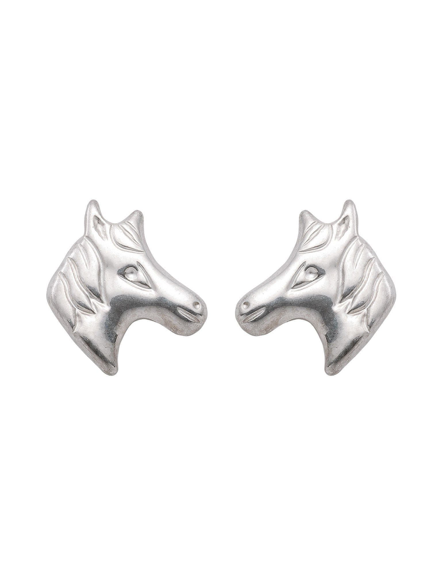 Adelia´s Paar Ohrstecker »Silber Ohrringe« Pferdekopf 925 Sterling Silber