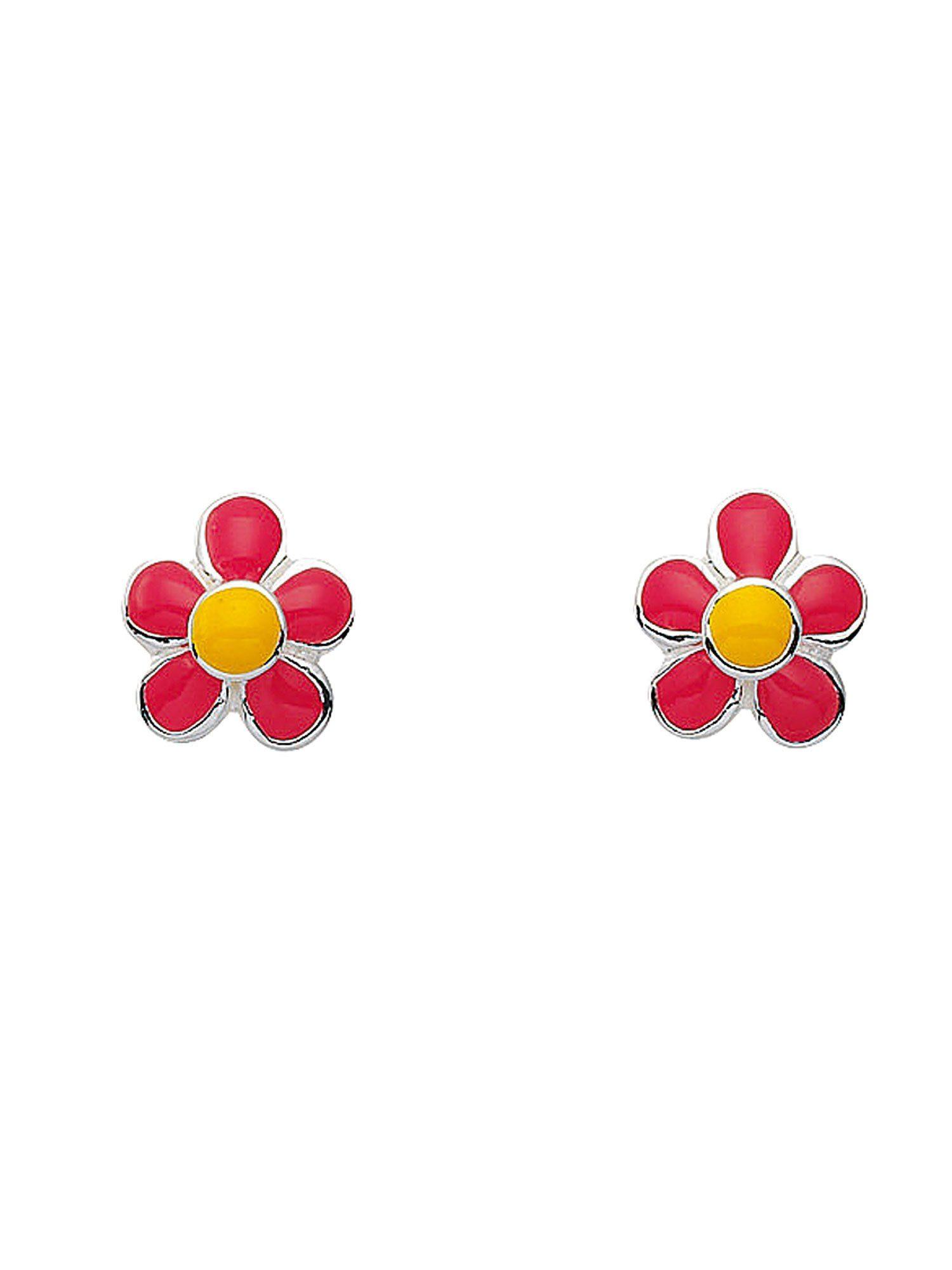 Adelia´s Paar Ohrstecker »Silber Ohrringe« Blüte - rosa 925 Sterling Silber