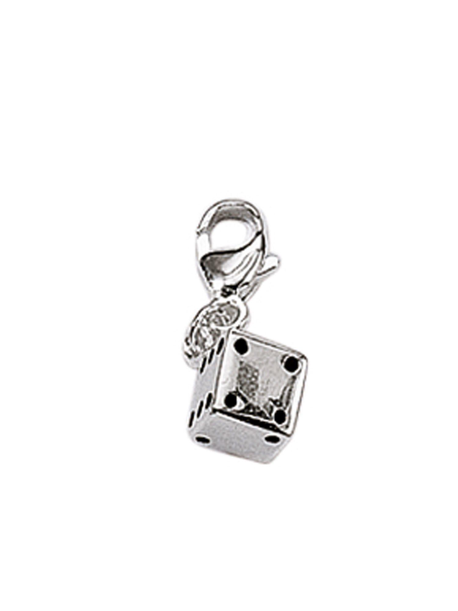 Adelia´s Charm-Einhänger »Silber Anhänger« Würfel 925 Sterling Silber