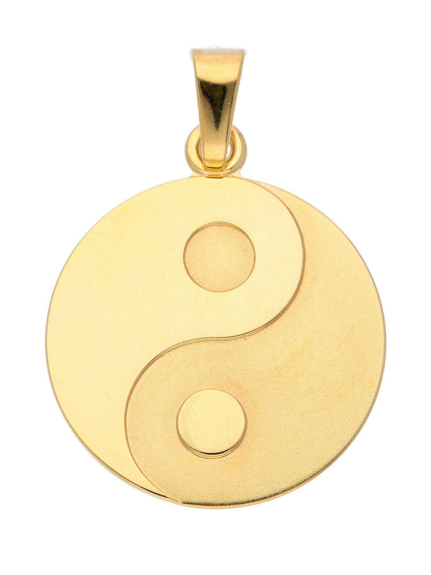 Adelia´s Kettenanhänger »Gold Anhänger« Ying Yang 8 k 333 Gelbgold