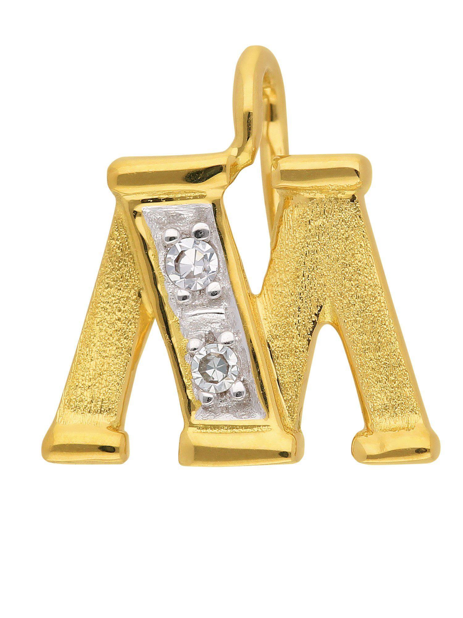 Adelia´s Buchstabenanhänger »Gold Buchstabenanhänger« 14 k 585 Gelbgold mit Diamant